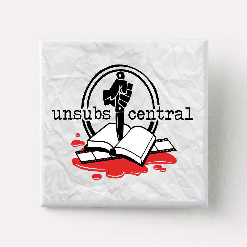 unsubs central books and film logo - square pin