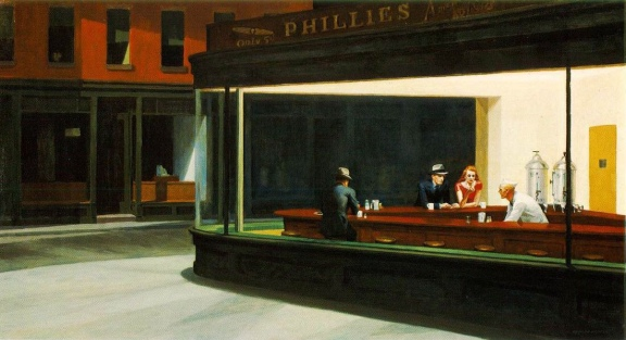 Nighthawk by Edward Hopper. Courtesy of EdwardHopper.net